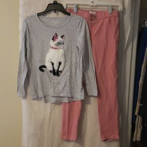 Kitty Shirt w/ free pants!